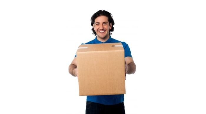 Man Holding Packed Box