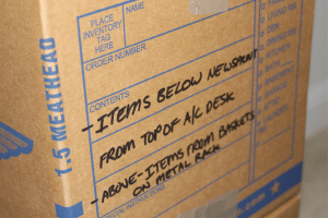 Box with Contents Label