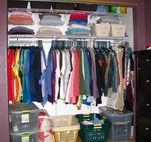 Clothes in Closet