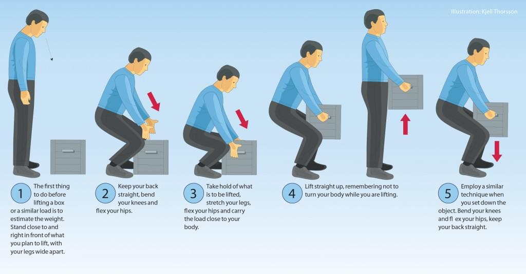 How to Lift Boxes Illustration