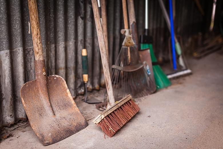 bigstock-Garden-tools-in-a-shed-108897149