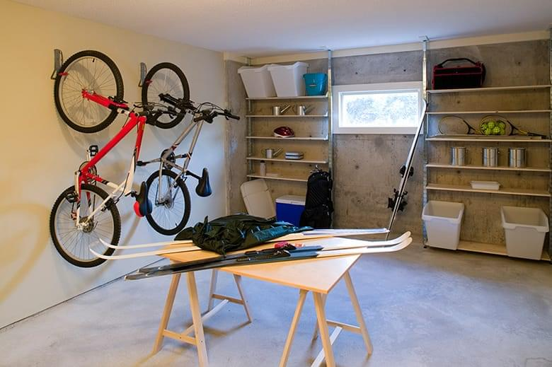 Garage Organized into Zones